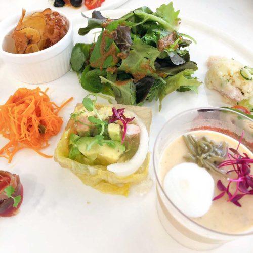 選べる発酵テリーヌ×2、発酵サラダの盛り合わせ、発酵野菜チップ